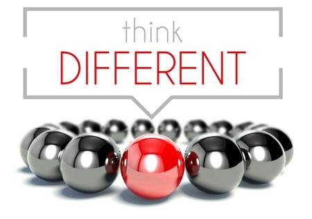 Piense en el concepto único y diferente de negocio