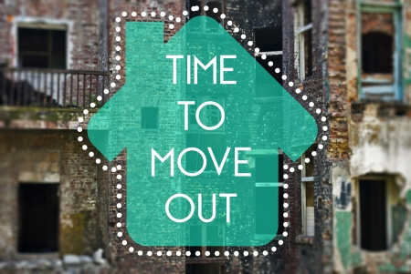 shifting: Time to move out new beginning concept Stock Photo