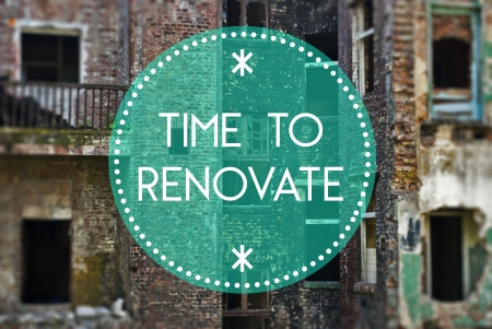 reparations: Time to renovate your life new beginning concept Stock Photo