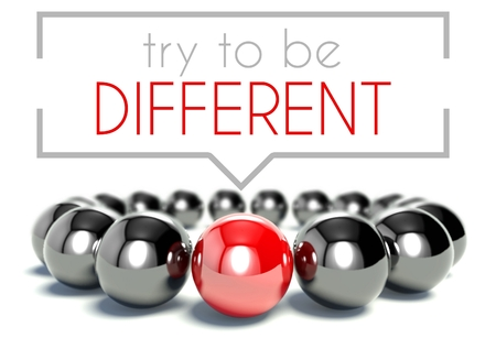 be different: Try to be different business unique concept Stock Photo