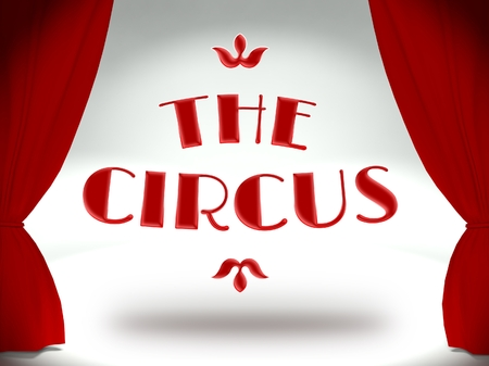 The circus theater stage with red curtains, concept of the show Stock Photo - 25316666