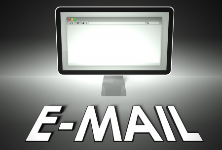 Computer screen and web browser with word E-mail, Internet concept photo