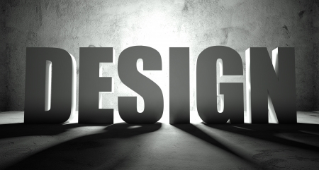 key words art: Design word with shadow, background with text