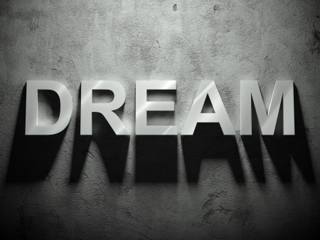 Dream text with shadow, word background Stock Photo