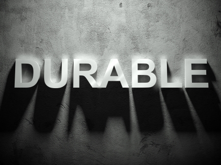 durable: Durable text with shadow, word background