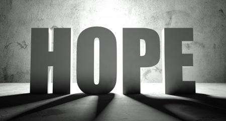 Hoop woord met schaduw, achtergrond met tekst