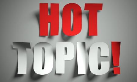 Hot topic gesneden uit papier, achtergrond Stockfoto
