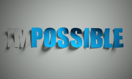 possible: Possible and impossible cut from paper, background