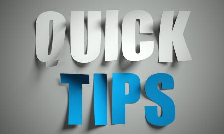 directives: Quick tips cut from paper, background Stock Photo