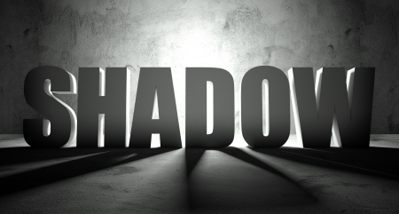 Shadow word with scene, background with text photo