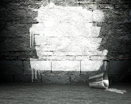 프레임 낙서 벽, 거리 예술 배경 스톡 콘텐츠 - 25334233