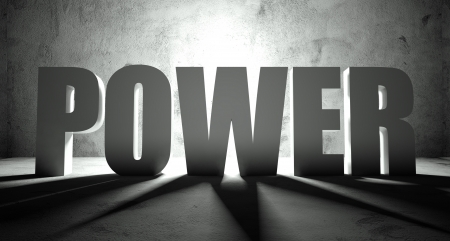 Power word with shadow, background with text photo