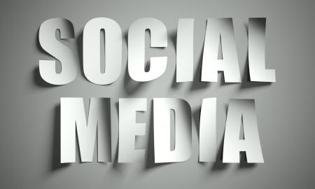weblogs: Social media cut from paper, background