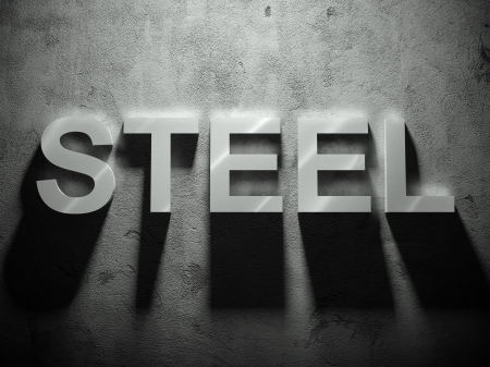 Steel text with shadow, word background Stock Photo - 25334406