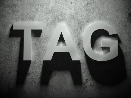 irradiation: Tag text with shadow, word background