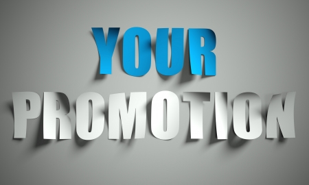 Your promotion cut from paper, background Stock Photo