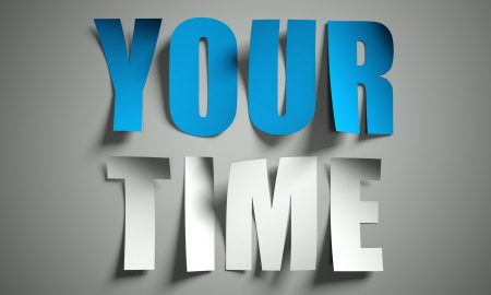Your time cut from paper, background