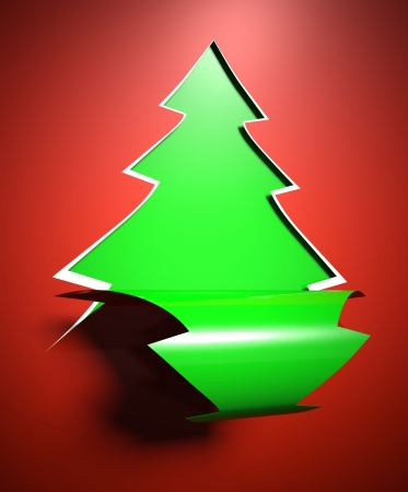 Creative modern Christmas tree background, card photo