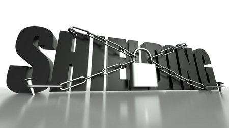 Shielding concept, safety padlock with chain photo