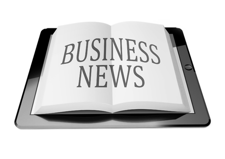 Business news with ebook in digital tablet computer, mobile reading concept Stock Photo - 25548355