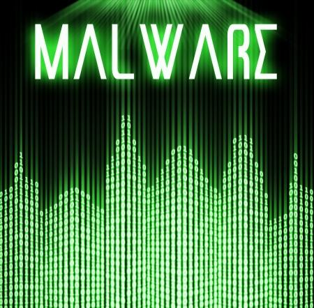 malware: Malware with cyber binary code technology  Stock Photo