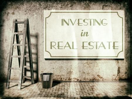 Invertir en bienes raíces en la pared en el estilo vintage