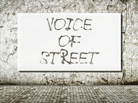 Voice of street, words on old wall photo