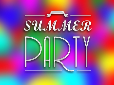 motto: Summer party invitation poster, colorful abstract backround
