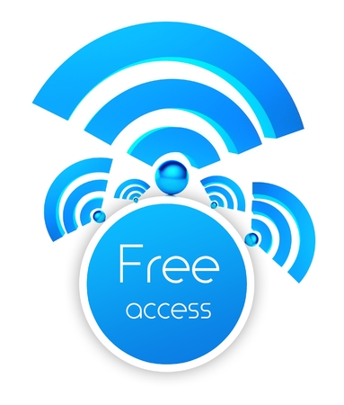 wifi access: Wifi free access icon isolated white