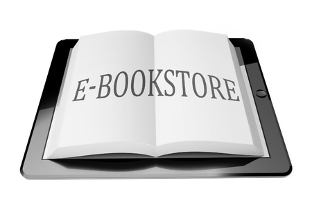 E-bookstore with ebook in digital tablet computer, mobile reading concept Stock Photo - 25598804