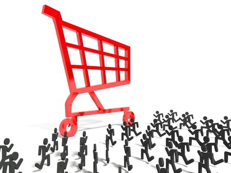 consumerism: 3d consumerism symbol, business concept
