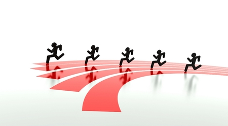 olimpic: Competition concept, race on the running tracks