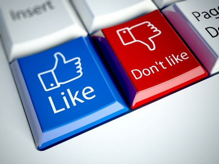 Keyboard with Like button, social network concept Stock Photo - 25615929