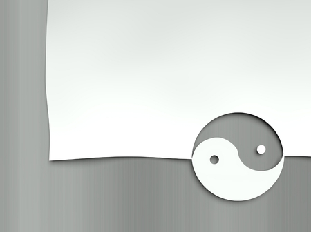 Ying Yang symbol, concept of opposites photo