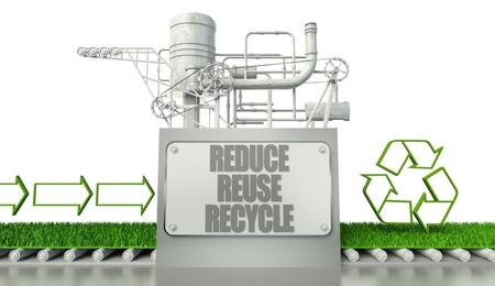 reduce reutiliza recicla: Reduzca la reutilizaci�n concepto de reciclaje con el s�mbolo del eco y la flecha signos