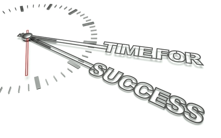 Clock with the words Time for success, concept of business photo
