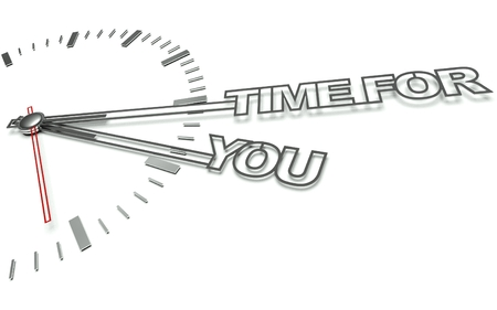Clock with the words Time for you, concept of personal development photo