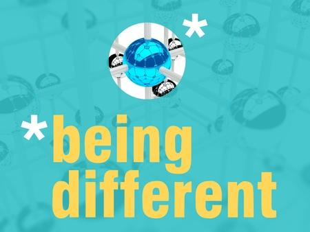 individualist: Being different concept, unique leader individualist