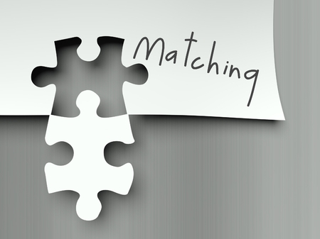 complement: Complement concept with matching puzzle pieces