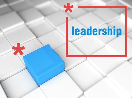 Leadership concept, one unique leader photo
