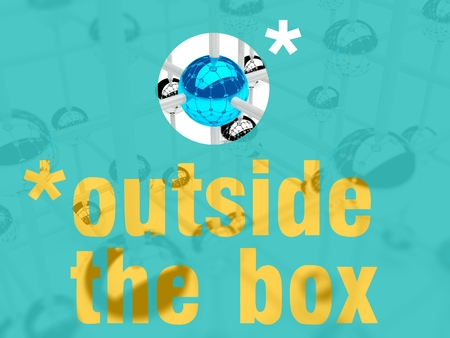 individualist: Think outside the box concept of leader, individuality
