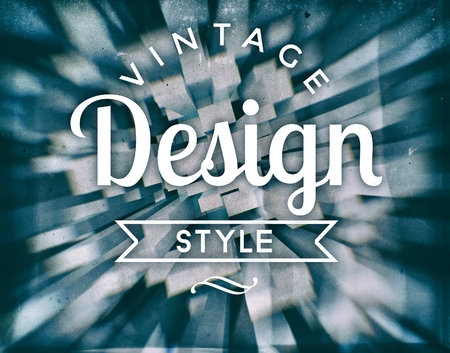bordure de page: style design vintage, affiche conceptuelle r�tro