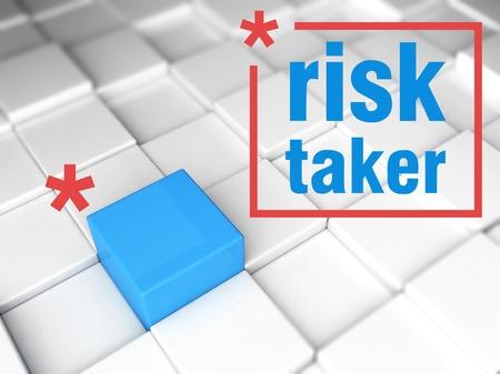 taker: Risk taker concept, one unique leader