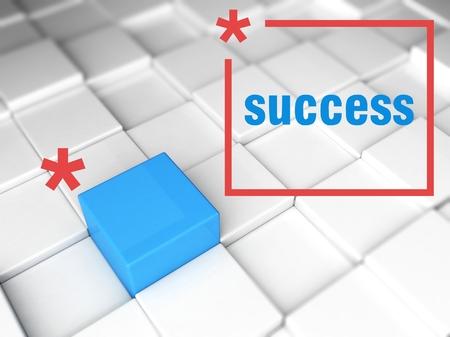 individualist: Success concept, one unique leader