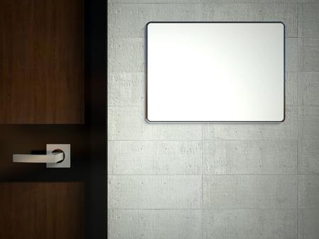door casing: 3d empty frame on the door