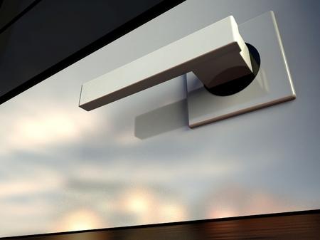 Poignée de porte design moderne 3d