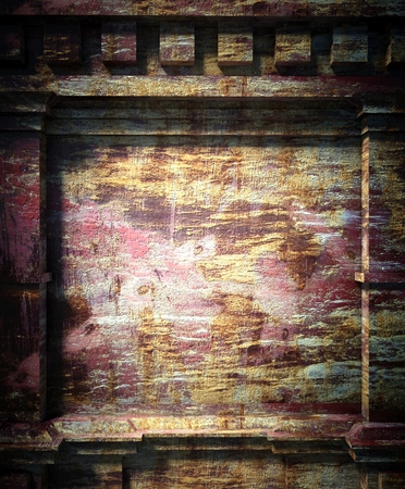 3d old wall background, antique architecture photo