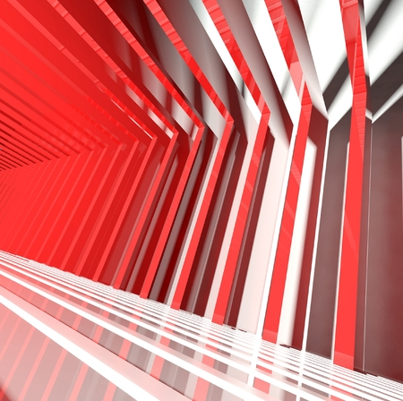 modern interior architecture: 3d abstract modern interior, architecture Stock Photo