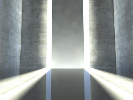 3 d モダンなインテリア、空の段階