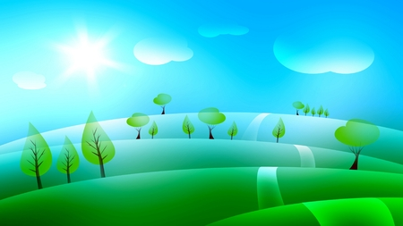 widescreen: Landscape background illustration for widescreen